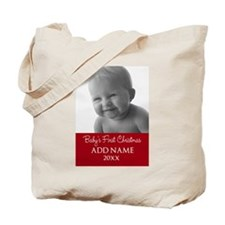 Baby First Christmas Red Tote Bag