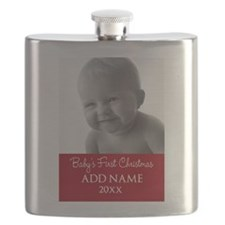 Baby First Christmas Red Flask