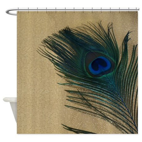 gifts animal bathroom d cor metallic gold peacock shower curtain