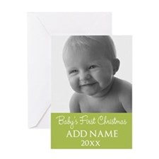 Baby Photo ustom Text Greeting Cards