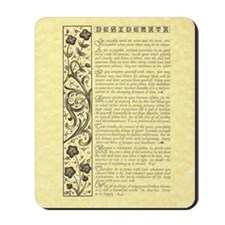 The Desiderata Poem by Max Ehrmann Mousepad