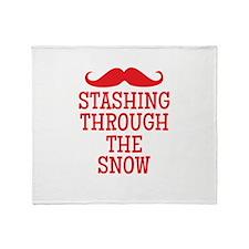 STASHING thru the snow Throw Blanket