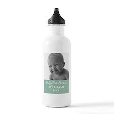 Add Baby Photo Mint Water Bottle