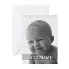 Add Photo Modern Design Greeting Cards