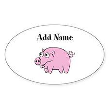 Add Name Cute Pig Decal