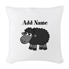 Black Sheep Add Name Woven Throw Pillow