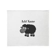 Black Sheep Add Name Throw Blanket