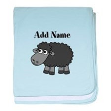 Black Sheep Add Name baby blanket