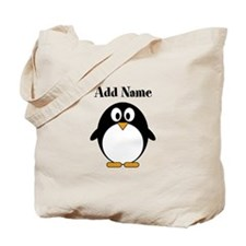 Add Name Modern Penguin Tote Bag