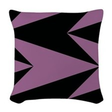 Pink and Black Arrowheads Woven Throw Pillow