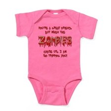 When Zombies Chase Us Baby Bodysuit