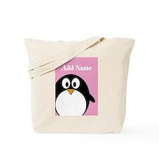 Modern Penguin Pink Tote Bag