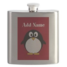 Modern Penguin Red Flask