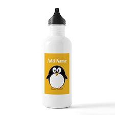 Modern Penguin Yellow Water Bottle