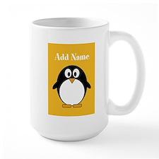 Modern Penguin Yellow Mugs