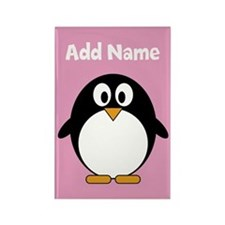 Modern Penguin pink Magnets