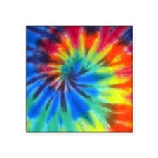 "Tie-Dye Square Sticker 3"" x 3"""