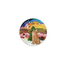 X Music 2 - Orange Tabby cat 46 Mini Button
