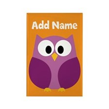 Modern Owl Orange Magnets