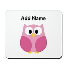 Modern Owl Pink Mousepad