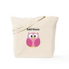 Modern Owl Pink Tote Bag