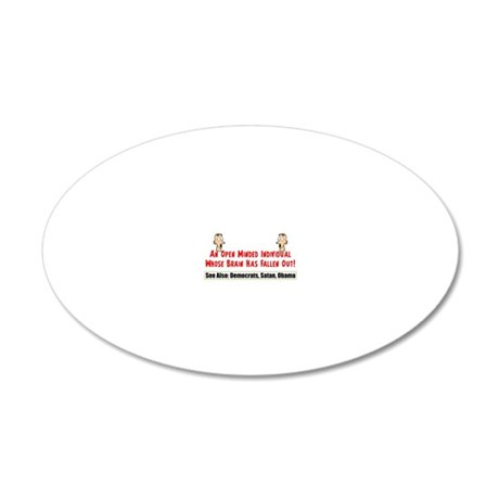 liberalblack3 20x12 Oval Wall Decal