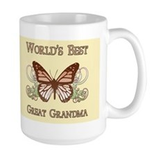 World's Best Great Grandma (Butterfly) Mug