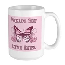 World's Best Little Sister (Butterfly) Coffee Mug