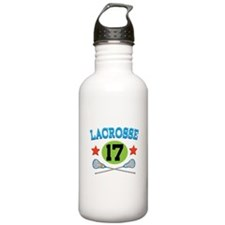Lacrosse Player Number 17 Water Bottle