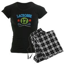 Lacrosse Player Number 17 pajamas
