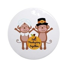 1st Thanksgiving Together Ornament (Round)