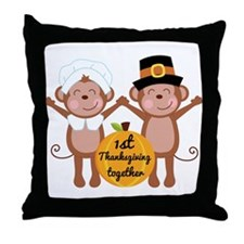 1st Thanksgiving Together Throw Pillow