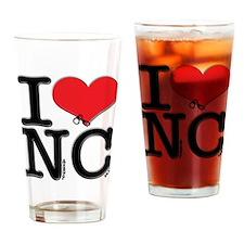 I Love Naughty-Chicks Drinking Glass