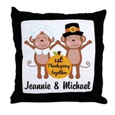 Personalized 1st Thanksgiving Together Throw Pillo