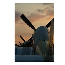 P-51 mustangs sunset Postcards (Package of 8)