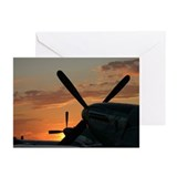 P-51 mustangs sunset 3 Greeting Cards (Package of