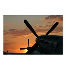P-51 mustangs sunset 3 Postcards (Package of 8)