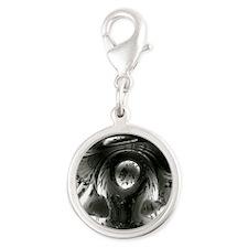 Bean Silver Round Charm