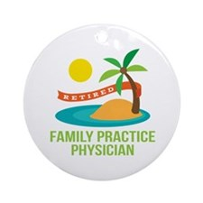 Retired Family Practice Physician Ornament (Round)