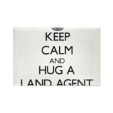 Keep Calm and Hug a Land Agent Magnets