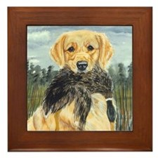 golden hunter Framed Tile