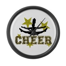 Cheerleader Large Wall Clock