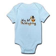 My 1st Thanksgiving Owl Infant Bodysuit