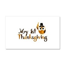 My 1st Thanksgiving Owl Car Magnet 20 x 12