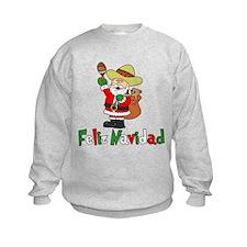 Feliz Navidad Santa Sweatshirt