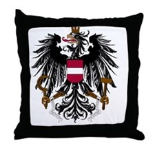 austria_coa_Bk1 Throw Pillow