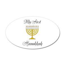 My First Hanukkah 35x21 Oval Wall Decal