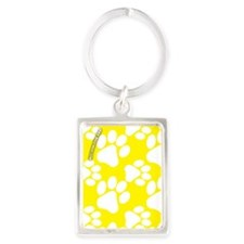 Dog Paws Yellow Portrait Keychain