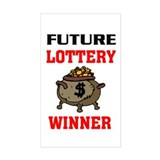 LOTTERY WINNER Rectangle Decal