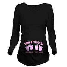 Were Twin Girls Customize Long Sleeve Maternity T-